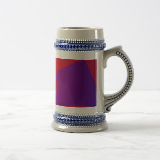 Púrpura rojo oscuro y de la marina de guerra jarra de cerveza