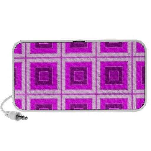 Púrpura rosada a cuadros altavoz de viaje