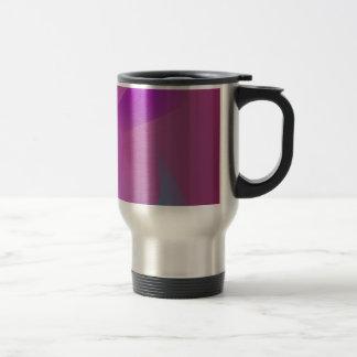 Púrpura rosada abstracta nebulosa taza de viaje de acero inoxidable