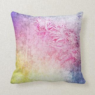 Púrpura rosada amarilla digital del arte escarchad almohadas