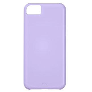 Púrpura rosada artística llana: Añada el texto o l Funda Para iPhone 5C