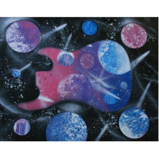 Púrpura rosada azul spacepainting izquierda de la