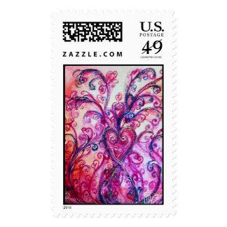 Púrpura rosada brillante de los FLOURISHES Estampilla