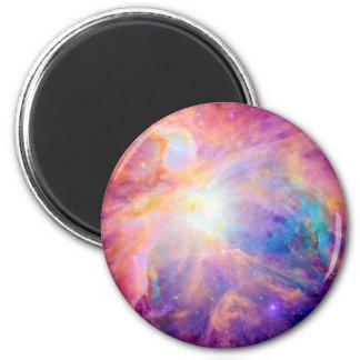 Púrpura rosada colorida de la nebulosa de Orión Imán Redondo 5 Cm