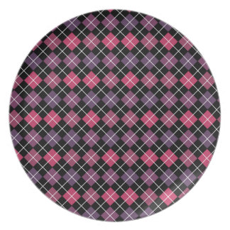 Púrpura rosada de Argyle Platos Para Fiestas