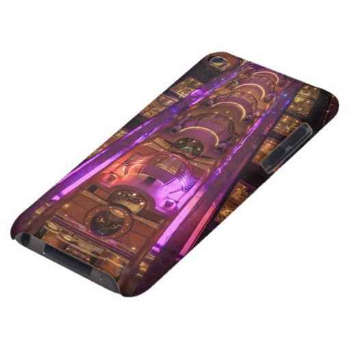 Púrpura rosada de la era espacial iPod Case-Mate cárcasas