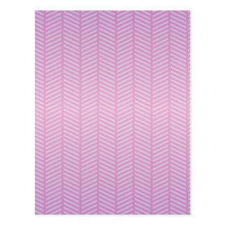Púrpura rosada de la raspa de arenque tarjeta postal
