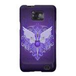 Púrpura Samsung de las espadas y de las alas del m Galaxy SII Fundas