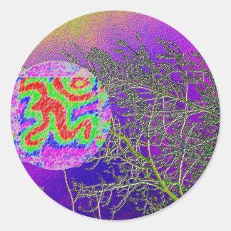 Púrpura santa de plata de Tweeks n con la muestra Etiquetas Redondas