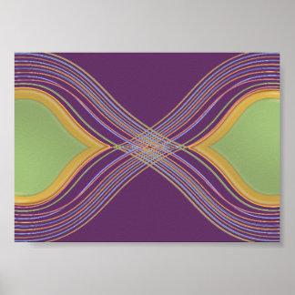 Púrpura santa verde de n - paisaje moderno de la c impresiones