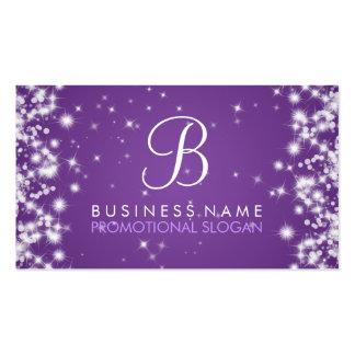 Púrpura simple del monograma de la chispa tarjetas de visita