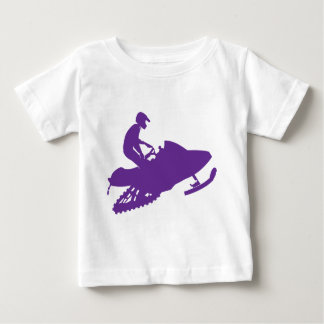 Púrpura-Snowmobiler Playeras
