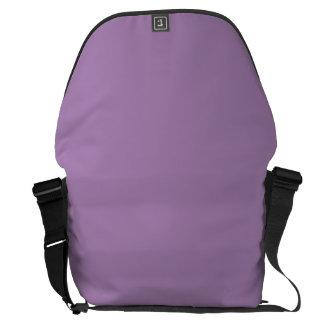 Púrpura sólida de la violeta africana bolsas de mensajería