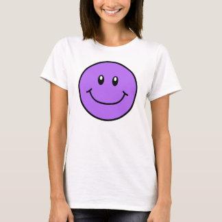 Púrpura sonriente 0001 de la camisa de la cara
