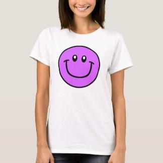 Púrpura sonriente 0003 de la camisa de la cara