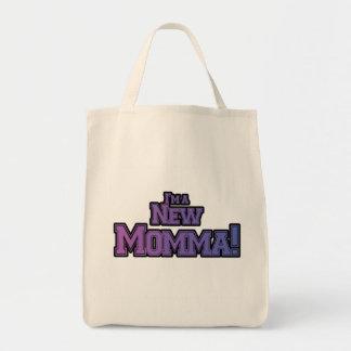 Púrpura soy camisetas y regalos nuevas de un Momma Bolsa Tela Para La Compra