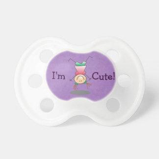 ¡Púrpura - soy lindo! - Chica al revés Chupete De Bebé