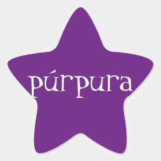 púrpura Star Stickers