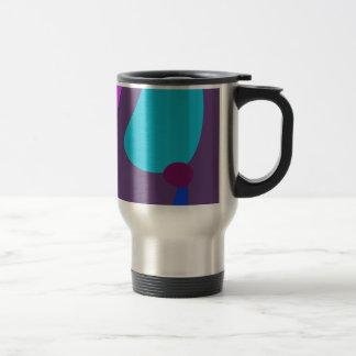 Púrpura suave oscura de la estrella fugaz taza de café