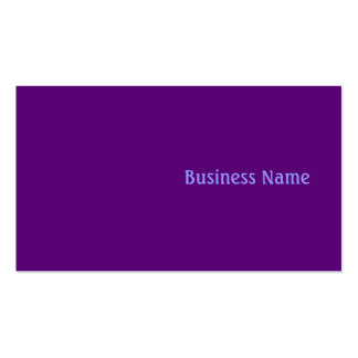 Púrpura Tarjetas De Visita