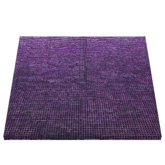 púrpura tejida de la estructura impresiones en lona estiradas