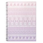 Púrpura tribal del rosa en colores pastel libros de apuntes