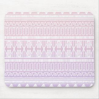 Púrpura tribal del rosa en colores pastel tapete de raton