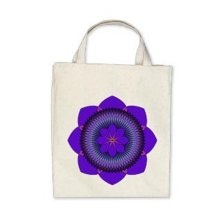 Púrpura tripartita Lotus de 80 pétalos Bolsas