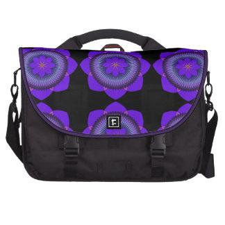 Púrpura tripartita Lotus de 80 pétalos Bolsas Para Portátil