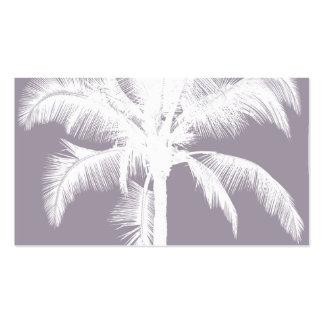 Púrpura tropical hawaiana retra del vintage de la  plantilla de tarjeta de negocio