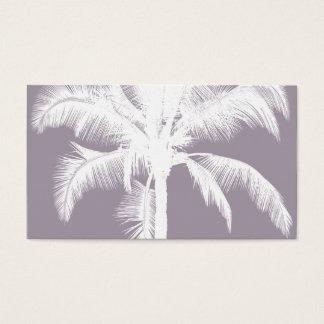 Púrpura tropical hawaiana retra del vintage de la tarjetas de visita