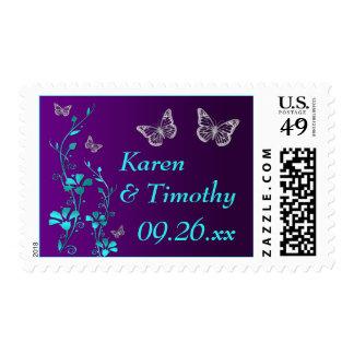 Púrpura, trullo floral, mariposas que casan envio