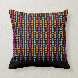Púrpura, trullo, modelo de punto vertical almohadas