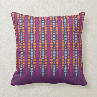 Púrpura, trullo, modelo de punto vertical cojin