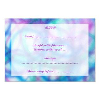 """Púrpura, trullo y RSVP. azul Invitación 3.5"""" X 5"""""""