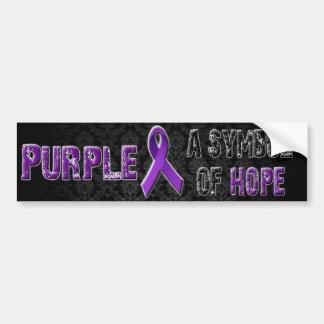 Púrpura un símbolo de la esperanza… Pegatina para  Etiqueta De Parachoque