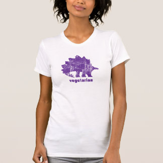 Púrpura vegetariana del Stegosaurus del vintage Playeras