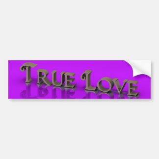 Púrpura verdadera del amor pegatina para auto