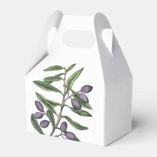 Púrpura verde de la rama de olivo el | cajas para regalos de boda