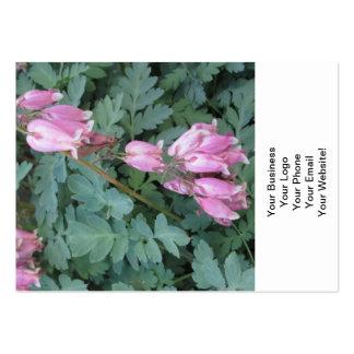Púrpura verde del corazón sangrante tarjeta de negocio