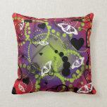 Púrpura verde roja de la esfera abstracta de la ma almohada
