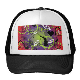 Púrpura verde roja de la esfera abstracta de la ma gorro de camionero