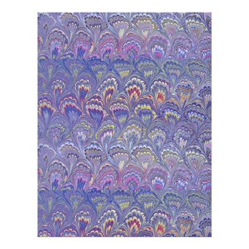 Púrpura veteada membrete