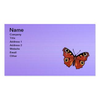 Púrpura viva bonita de la mariposa de monarca tarjetas de visita