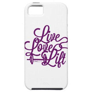 Púrpura viva de la elevación del amor iPhone 5 carcasas
