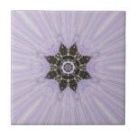 Púrpura y arte de la estrella del copo de nieve de azulejos cerámicos