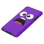 Púrpura y asustado iPod touch Case-Mate carcasa