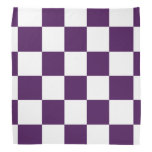 Púrpura y blanco a cuadros bandanas