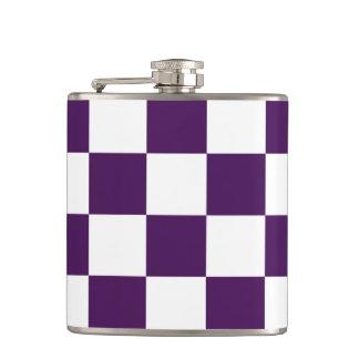 Púrpura y blanco a cuadros petaca
