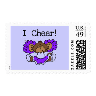 Púrpura y blanco de la animadora del mono envio